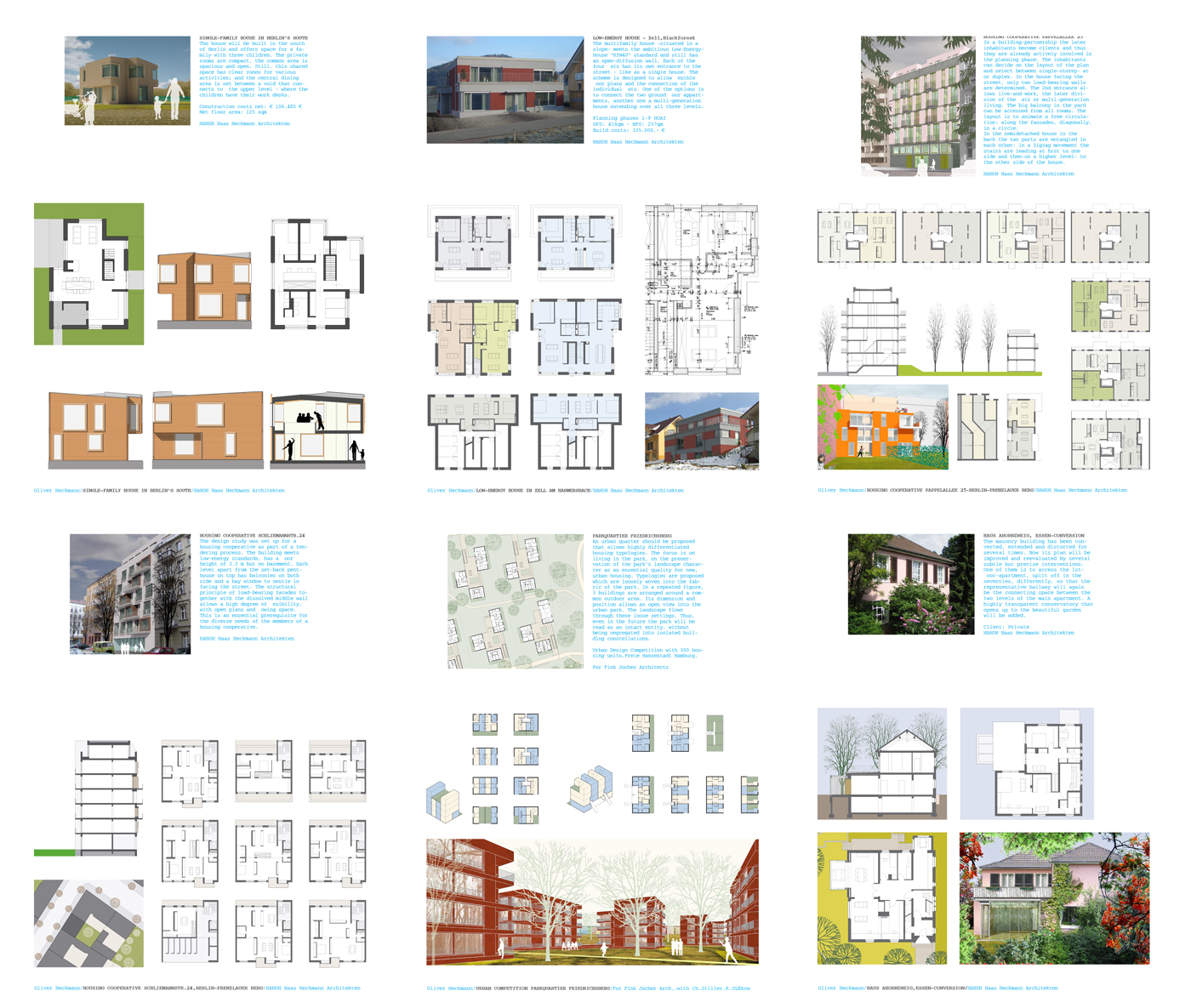 HOUSING PROJECTS Residential projects include new buildings and conversions in both inner-city and suburban settings, low-budget housing, energy efficient architecture, buildings with flexible floor plans and collaborative housing projects. With the latter the con-ventional scope of architectural practice extends to include participatory design and project development.