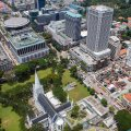Birdseye View of Saint Andrew's Cathedral (© Photography by Lim Shao Bin)