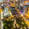 Night Birdseye View of Saint Andrew's Cathedral (© Photography by Lim Shao Bin)