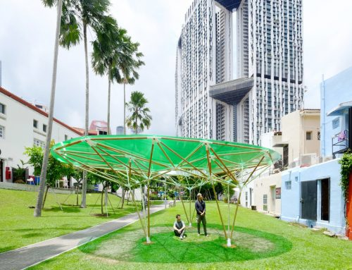 Sombra Verde's 3D Printed Bamboo Structure Bridges the Gap Between